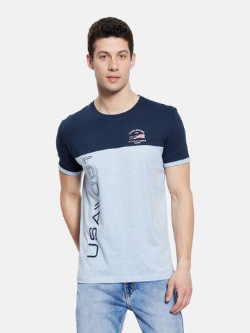 OCTAVE | Men SKY MELANGE T-Shirts