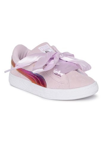 Puma |  Puma Girls Minions Suede Heart Fluffy PS Sneakers
