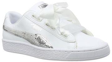 Puma | Puma Girls Basket Heart Bling Sneakers