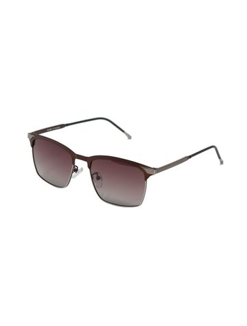 ENRICO | ENRICO Iris UV Protected & Polarized Round Shape Sunglasses for Men ( Lens - Brown | Frame - Brown)