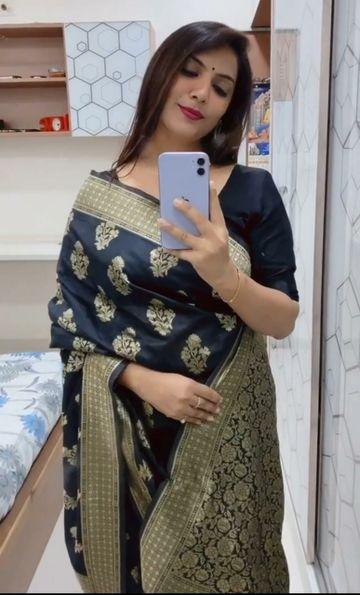 JINAL & JINAL | JJ Women's Banarasi Silk Jacquard Saree - PRAM -15