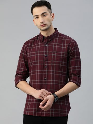 The Bear House   Men's Checkered Button-Down Casual Shirt