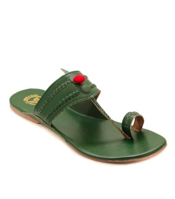 Trends & Trades | Green Womens Flat By Trends & Trades