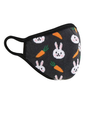 Soxytoes | Soxytoes Grey Bunny Stylish Protective Super Safe Washable Knitted Cotton Kid's Face Mask