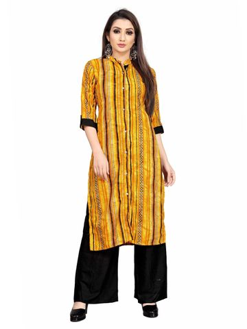 SATIMA | Women Yellow Kurta Palazzo Set