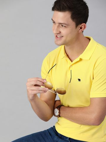 The Bear House |  OVERDYED POLO- YELLOW