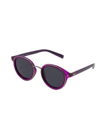 ENRICO | ENRICO Darcy UV Protected Round Unisex Sunglasses ( Lens - Black | Frame - Purple)