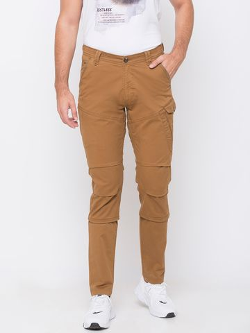 spykar | spykar Yellow Cotton Trousers
