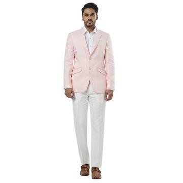 Raymond | Pink and White Solid Two Buttoned Suit