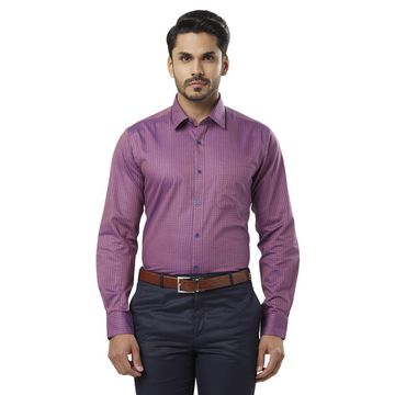 Raymond | Purple Checked Formal Shirt