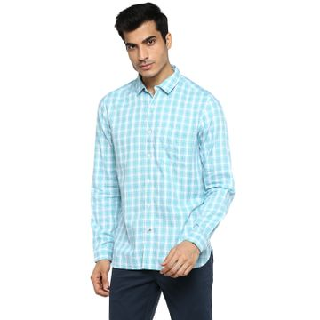 RED CHIEF | Red Chief Men Checked Casual Shirt (Blue)