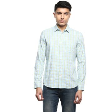 RED CHIEF | White & Green Casual Shirt