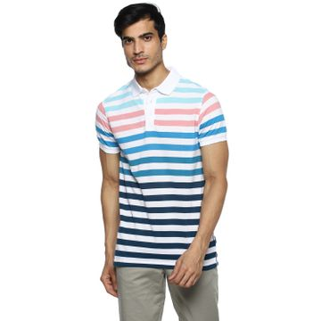 RED CHIEF | Red Chief Men Striped Casual T-Shirt (Pink)