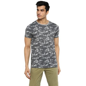 RED CHIEF   Red Chief Men Printed Casual T-Shirt (Grey)