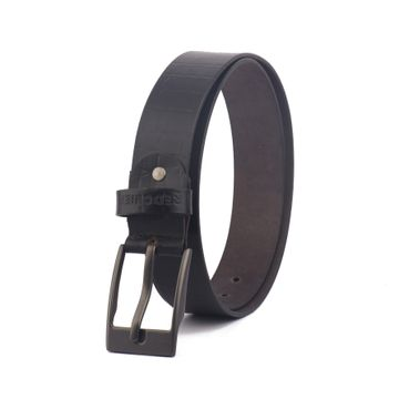 RED CHIEF | Red Chief Men Leather Casual Belt (Black)