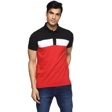 RED CHIEF   Red Solid Polo T-Shirt