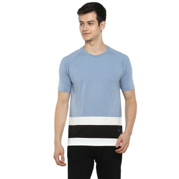 RED CHIEF | Red Chief Men Solid Casual T-Shirt (Sky Blue)