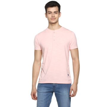 RED CHIEF | Pink Solid T-Shirt