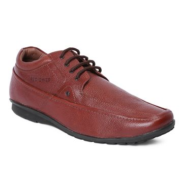 RED CHIEF | RED CHIEF Dark Tan Derby Shoes