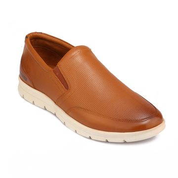 RED CHIEF | Tan Casual Slip-ons