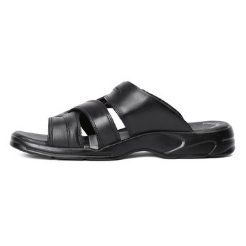 RED CHIEF | RC593 001 Black Slippers