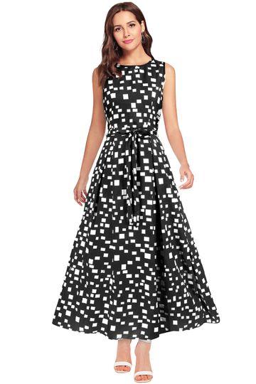 POONAM TEXTILE   Exclusive Designer Black Dotted Gown