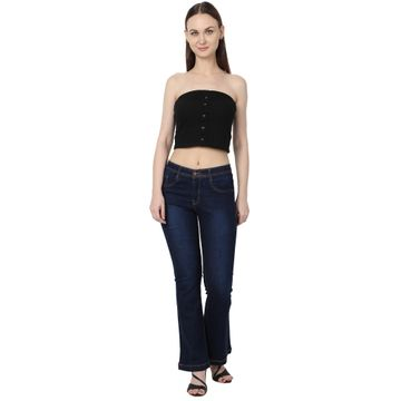 River of Design Jeans | Women blue flared solid bootcut jeans