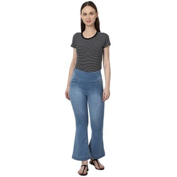 River of Design Jeans | Women blue bootcut high rise clean look stretchable jeans