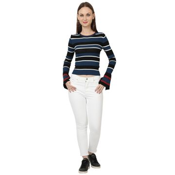 River of Design Jeans   Women white skinny fit high rise clean look stretchable jeans