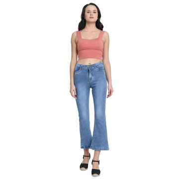 River of Design Jeans | Women light blue clean look flared jeans