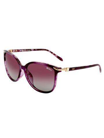 ENRICO | ENRICO Little Mill Polycarbonate UV Protected & Polarized Square Shape Sunglasses for Women ( Lens - Purple | Frame - Purple)