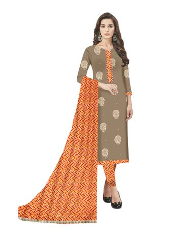 GF's | GF's Block Printed Beautiful Unstitched Dress Materials for Women
