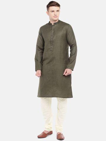 Ethnicity   Off white Cotton churidar