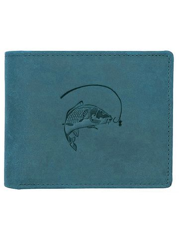 WildHorn | WildHorn RFID Protected Genuine High Quality Leather Blue Wallet for Men