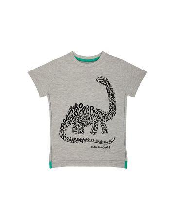 Mothercare | Light Grey Printed T-Shirt