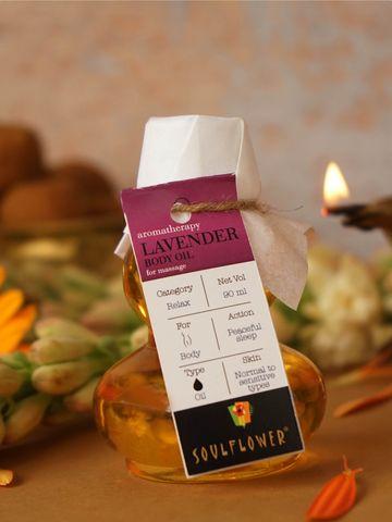 Soulflower   Lavender Aroma Massage Oil - 90ML