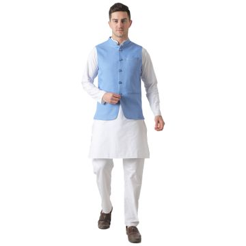 TAHVO | TAHVO men 5 button nehru jacket kurta set