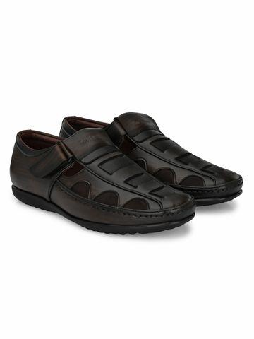 San Frissco | San Frissco Men's Faux Leather Ittar Brown Sandals