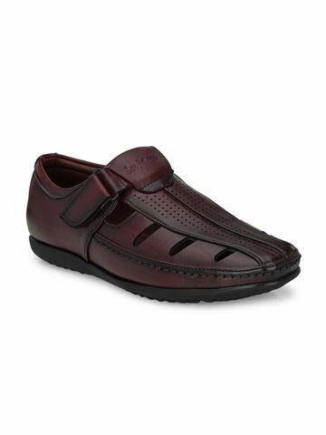 San Frissco | San Frissco Men's Faux Leather Zouk Cherry Sandals