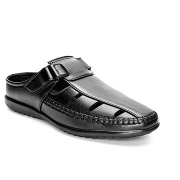 San Frissco | San Frissco Men Faux Leather Oud Black Mules