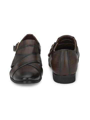 San Frissco | San Frissco Men's Faux Leather Kriss Brown Sandals