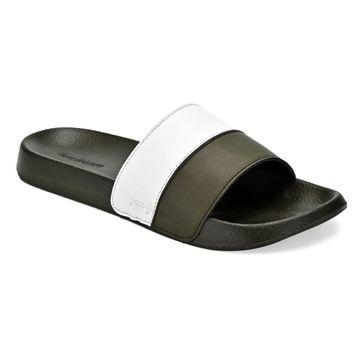 San Frissco | San Frissco Men Faux Leather Ivy Green Comfort Sliders