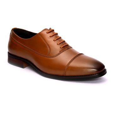 San Frissco | San Frissco Men Faux Leather Trade Tan Derby Shoes