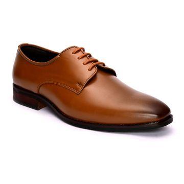 San Frissco | San Frissco Men Faux Leather Topline Tan Derby Shoes