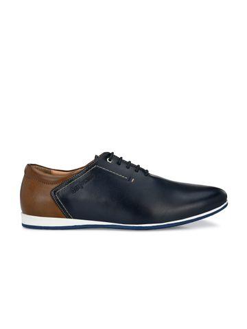 San Frissco | San Frissco Men Simon Blue Sneakers Faux Leather Casual Sneakers