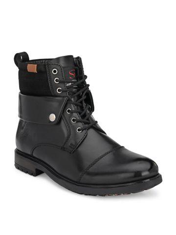 San Frissco | San Frissco Roxxy Black Lace-up Boots