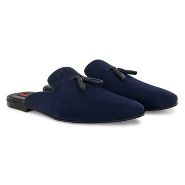 San Frissco | San Frissco Men Beau Blue Tassel Mules Suede Casual Mules