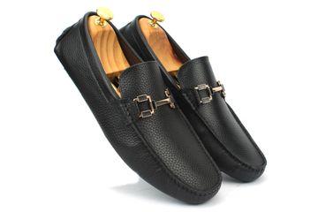 San Frissco | San Frissco Men Black Genuine Leather Casual Shoes