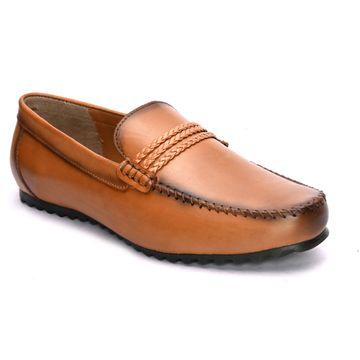 San Frissco | San Frissco Men Italian Leather Goblit Tan Loafers
