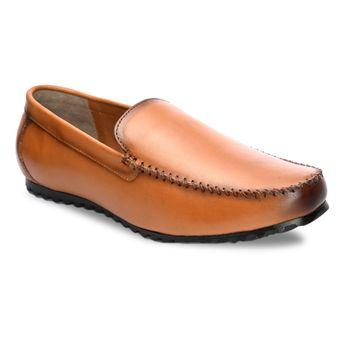 San Frissco | San Frissco Men Italian Leather Bullet Tan Loafers